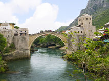 Mostar in Bosnia and Herzegovina is the most important city in the Herzegovina region. Stock Photography