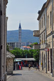 Mostar, Bosnia and Herzegovina. One of the main streets of Mostar, Bosnia and Herzegovina Stock Photo