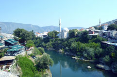 Mostar,Bosnia and Herzegovina. Travel to Europe under summer,Mostar in the Bosnia and Herzegovina Stock Image