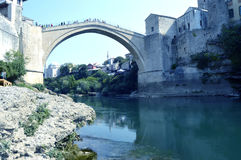 Mostar,Bosnia and Herzegovina. Travel to Europe under summer,Mostar in the Bosnia and Herzegovina Stock Photos