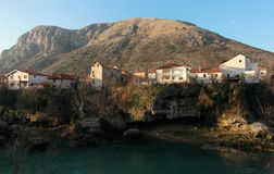 Mostar, Bosnia in the morning. Morning view of Mostar, Bosnia and Herzegovina Stock Photo