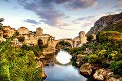 Mostar Bosnien & Hercegovina Arkivbild