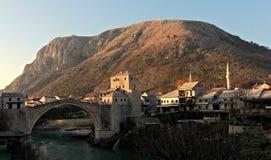 Mostar, Bosnien morgens Stockfoto