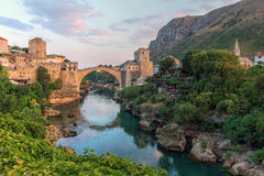 Mostar Bosnien och Hercegovina Arkivbilder
