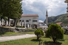 Mostar, Bosnien und Herzegowina, Europa, alte Stadt, Kirchhof, Moschee, Märtyrer, Friedhof, bombardierter, bosnischer Krieg lizenzfreies stockbild