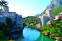 Mostar-Brücke lizenzfreies stockbild