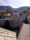 Mostar bridge. Old bridge on river Neretva - Mostar, Bosnia and Herzegovina, UNESCO Stock Image