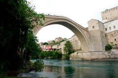 Mostar Bridge - Bosnia Herzegovina. Historical Mostar Bridge - Bosnia Herzegovina Royalty Free Stock Image
