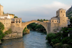 Mostar Bridge - Bosnia Herzegovina. Historical Mostar Bridge - Bosnia Herzegovina Stock Photography
