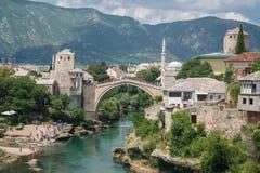 Mostar bridge, Bosnia and Herzegovina Royalty Free Stock Photography