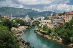 Mostar bridge, Bosnia and Herzegovina Royalty Free Stock Image