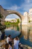 Mostar bridge in Bosnia. And Herzegovina Royalty Free Stock Photography