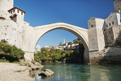 Mostar bridge in bosnia Royalty Free Stock Photography