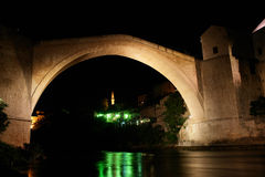 Mostar Bridge - Night scene Royalty Free Stock Photo