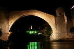 Mostar Bridge - Night scene Royalty Free Stock Photo