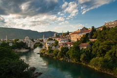 The Mostar bridge. The Old Bridge in Mostar, Bosnia and Herzegovina Royalty Free Stock Images