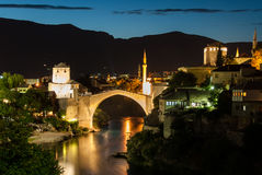 The Mostar bridge. The Old Bridge in Mostar, Bosnia and Herzegovina Stock Image