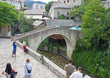 Small Mostar Bridge Royalty Free Stock Images