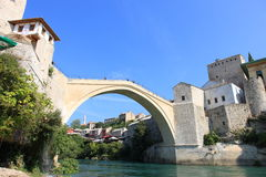 Mostar Bridge Stari Most. Famous Mostar Bridge Stari Most in Bosnia (World Heritage List Stock Photography