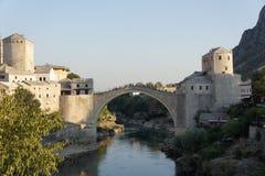 Mostar bro i Bosnien Arkivbilder