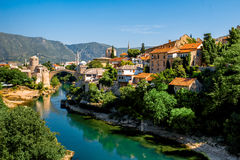 Mostar city view Royalty Free Stock Photography