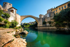 Mostar city view Royalty Free Stock Photo