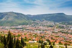 Mostar city view Royalty Free Stock Photos
