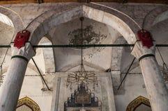 Mostar, creciente, estrella, Koski Mehmed Pasha Mosque, alminar, Bosnia y Herzegovina, Europa, Islam, religión, lugar de culto imágenes de archivo libres de regalías