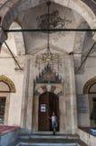 Mostar, creciente, estrella, Koski Mehmed Pasha Mosque, alminar, Bosnia y Herzegovina, Europa, Islam, religión, lugar de culto imagenes de archivo