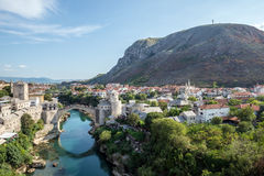 Mostar en Bosnia Fotografía de archivo libre de regalías