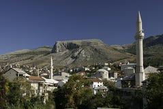 Mostar en Bosnia Hercegovina Imágenes de archivo libres de regalías