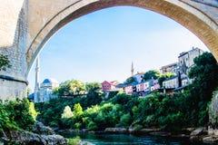 Mostar-Fluss-Ansicht Stockfotos