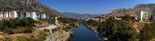 Mostar gammal stad, Bosnien och Hercegovina royaltyfri foto