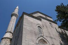 Mostar horisont, Koski Mehmed Pasha Mosque, minaret, Bosnien och Hercegovina, Europa, islam, religion, ställe av dyrkan arkivfoto