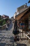 Mostar, horizonte, arquitectura, bazar viejo, callejón, mercado, Kujundziluk, Bosnia y Herzegovina, Europa foto de archivo libre de regalías