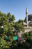 Mostar, horizonte, mezquita, alminar, Bosnia y Herzegovina, Europa, Islam, religión, lugar de culto imágenes de archivo libres de regalías