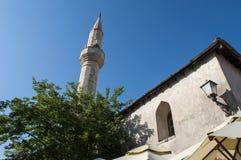 Mostar, horizonte, mezquita, alminar, Bosnia y Herzegovina, Europa, Islam, religión, lugar de culto fotos de archivo