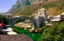 Mostar, le pont Photo stock