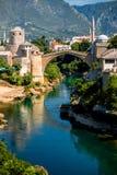 Mostar miasta widok fotografia royalty free