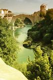 Mostar mit der berühmten Brücke Stockbilder