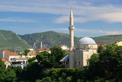 Mostar mosque Royalty Free Stock Image