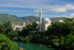 Mostar mosque Royalty Free Stock Photos