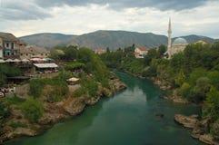 Mostar nach dem Sturm Stockbilder