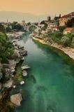 Mostar, Neretva Stockbild