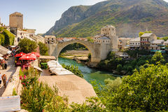 Mostar new Stari Most (Old Bridge) Stock Photos