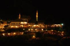 Mostar at Night Stock Image