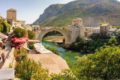 Mostar nouveau Stari la plupart des &#x28 ; Vieux Bridge&#x29 ; Photos stock