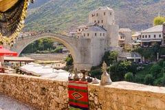Mostar nouveau Stari la plupart des &#x28 ; Vieux Bridge&#x29 ; Photographie stock libre de droits
