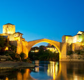 Mostar old bridge. Royalty Free Stock Photography