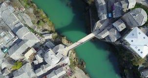 Mostar Old Bridge over the Neretva River Royalty Free Stock Photography